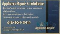 K&M appliance repair, We can fix it faster...FOR LESS!!!