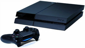 PS4 500gb Black PS4 with one controller