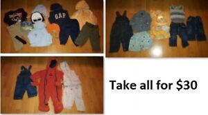 12-18 Mths Baby Boys Clothing Lot 1 (Take all 24 Pieces for $30)