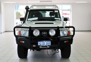 2012 Toyota Landcruiser VDJ79R 09 Upgrade GX (4x4) White 5 Speed Manual Cab Chassis