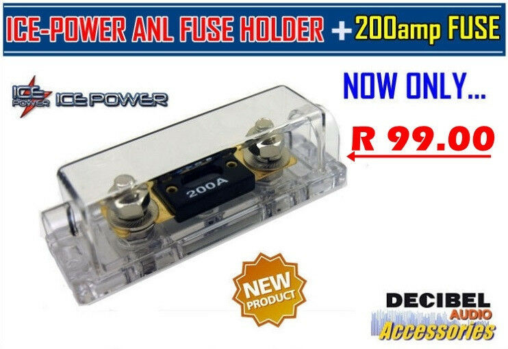 ice-power anl fuse holder + 200amp fuse