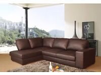 Modern design westpoint leather corner sofa, available in black, brown,cream or red