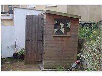 Used Wooden shed (8ft x 4ft x 7 ft high)
