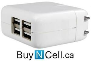 APPLE 4-PORT WALL CHARGER FOR iPHONE OR iPAD - 5 GTA STORES