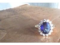 A Beautiful Blue Sapphire Ring (similar to the engagement ring of Kate Middleton)