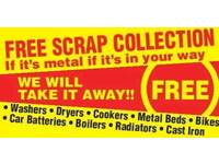 Scrap metal wanted free coĺlections