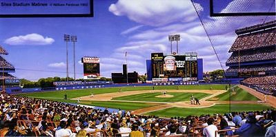 "New York Mets ""Shea Stadium Matinee"" limited lithograph William Feldman Print"