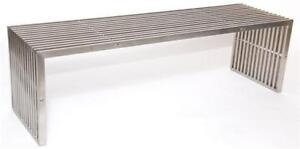 Steel Brushed Finish Pavilion Large Bench-MS 18 in Toronto Furniture Sale (BD-1452)
