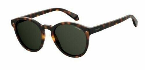PLD2057S 0N9P EX Polaroid Polarized Men/'s Matte Havana Square Sunglasses