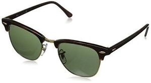 7c16ca02159 Ray-Ban RB3016 Clubmaster Unisex Sunglasses with Tortoise Frame and  Polarized Green Classic Lenses