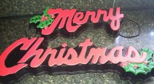 merry christmas lighted sign