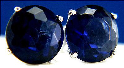 New Womens 925 Sterling Silver Fashion Tanzanite Round 3.46 CT CZ Stud Earrings  ()