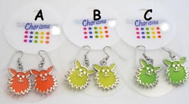 Charisma Coloured Animal Earrings - JTY268