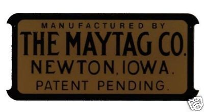 Maytag Engine Washer Decal Black Gold