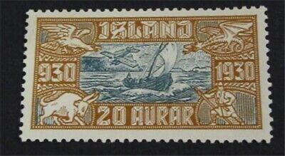 nystamps Iceland Stamp # C5 Mint OG NH $80   L23y446