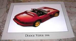 NOS-1996-Dodge-Viper-Dealer-Info-sheets-For-Framing-2-Pages-V10-Discontinued