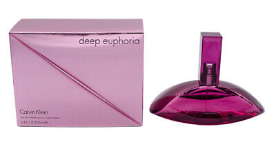 Deep Euphoria by Calvin Klein 3.4 oz EDT Perfume for Women New In Box