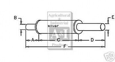 Allis Chalmers Muffler Fits Wd Wd45 Gas And Diesel