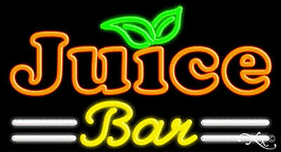 Juice Bar Handcrafted Real Glasstube Neon Sign