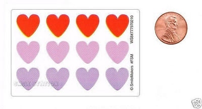 120 Heart Shaped Mini Stickers Valentines Day Party Goody Loot Bag Favor Supply - Valentine Goodie Bags