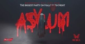 Asylum Halloween @ Rebel Nightclub October 31st hardcopies