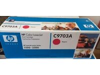 GENUINE HP Color Laserjet Printer MAGENTA Toner Cartridge (C9703A) Sealed in box