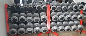 Pro style dumbbells 10lbs to 85lbs in 5lbs inc.
