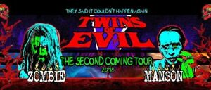 3 x Rob Zombie & Marilyn Manson - Seats! - Budweiser Stage