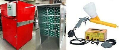 Powder Coat Complete Turnkey System Large Oven 5x7 Hobby Gun