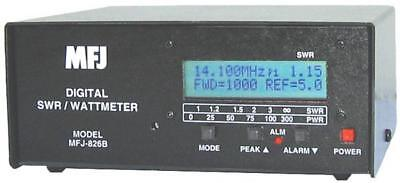 MFJ-826B Digital HF/6M (1.8 - 54MHz) SWR/Wattmeter with Frequency Counter. Buy it now for 199.55