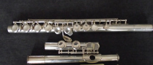 RARE Philipp Hammig 666 Solid Silver Flute TRAVERSIERE Offset G
