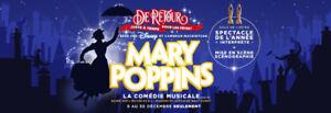 2 billets pour Mary Poppins Gratuits ce soir 12 décembre 2017