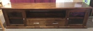 Hardwood slimline entertainment unit Ashmore Gold Coast City Preview