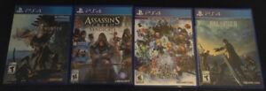 Jeux PS4 (FF15, World of FF, AC Syndicate, MH World)