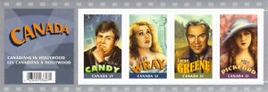 Canada Stamps - Canadians in Hollywood 51c Commemorative Sheet West Island Greater Montréal image 1