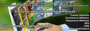 Website design and website development at affordable prices