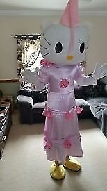 Hello Kitty Mascot costume for entertaining at children's parties.