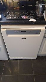 Whirlpool ADP720WH Dishwasher, two years old perfect condition