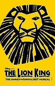 5x Tickets to see The Lion King @Lyceum Theatre, on the 26th, April @7:30pm,Stalls seat ,T row