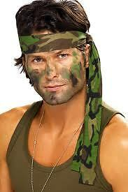 Army Headband Camouflage Fancy Dress Camo Bandana Accessory