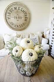2 Quartz Hamptons style ornamental pumpkins, price for both