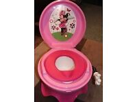 Mini mouse cheering 3 in 1 potty