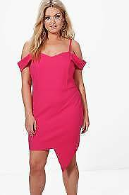 BOOHOO---Plus--Eve Off The Shoulder--Bodycon Dress---Size 22--NEW