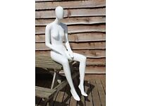 Sitting Female Pucci Mannequin Ex Hire Good Condition