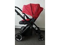 Oyester pushchair with buggy board raincover