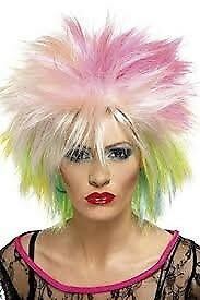80s RAINBOW PUNK FANCY DRESS WIG GREAT FOR PARTY OR HEN DO