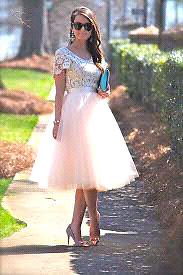 Handmade Light pink tulle skirt- great for bridal shower!