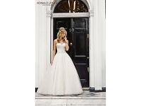 Ronald Joyce Eliza Wedding Dress Ivory/White Size 24