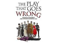 5 tickets - The Play That Goes Wrong (2 adult, 3 under 16's)