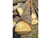 seasoned dried logs